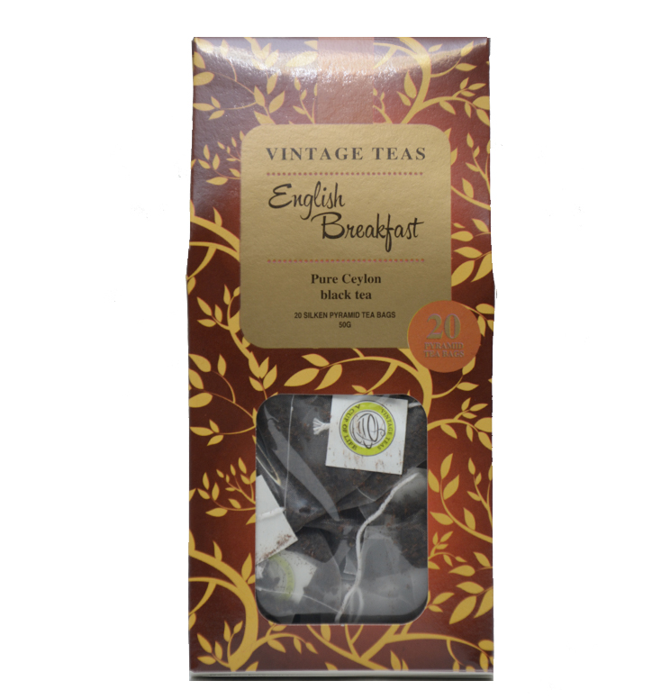 Vintage piramis tea - Fekete tea English Breakfast - 2,5g x 20db